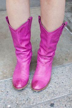 #FIDM Student Rebecca   Visual Communications major   Purple Cowboy Boots