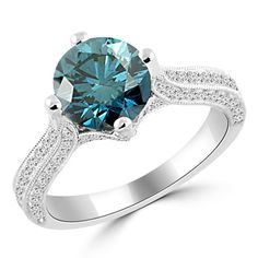 Jewelry Point - 2.55ct SI1 Blue Diamond Engagement Ring 18k White Gold, $8,450.00 (http://www.jewelrypoint.com/2-55ct-si1-blue-diamond-engagement-ring-18k-white-gold/)