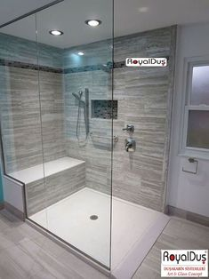 120 Stunning Bathroom Tile Shower Ideas 28 Inspirational Walk in Shower Tile Ideas for a Joyful Showering Modern Shower, Modern Bathroom, Small Bathroom, Master Bathroom, Bathroom Showers, Neutral Bathroom, Bathroom Taps, Minimalist Bathroom, Bathroom Renos