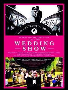 The Castlefield Rooms wedding show Sunday 21st 11.00-14.00