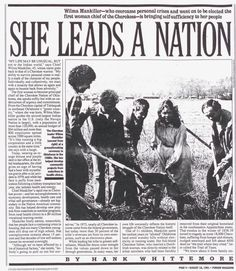 cherokee women - news paper article