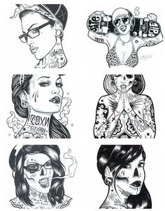 art, girl, ink, pin up, tattoo