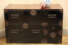 E465 綺麗!庄内箪笥二段 時代箪笥 和家具 チェスト 収納棚34317_画像3