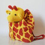 Giraffe backpack/ Mochila de jirafa