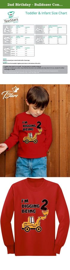 2nd Birthday - Bulldozer Construction Party Toddler Toddler/Kids Long sleeve T-Shirt 4T Red. Great 2-year-old birthday gift ideas!. Cute little kids crew-neck long sleeved tee top. Premium quality, 100% combed-cotton (preshrunk,) machine washable. Available in a wide variety of colors and sizes: 2T-5/6T - Choose the size and color options from the drop-down list. The best gift ideas for kids birthdays, special occasions, holidays, baby showers & big brother, big sisters presents.