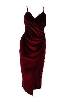 Casey Velvet Wrap Over Strappy Midi Dress Elegant Dresses, Pretty Dresses, Beautiful Dresses, Dream Dress, I Dress, Bodycon Fashion, Fashion Dresses, Soft Grunge, Hipster