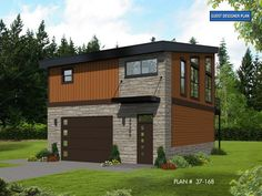 Garage apartment plans are closely related to carriage house designs. Typically, car storage with living quarters above defines an apartment garage plan. View our garage plans. Garage Apartment Plans, Garage Apartments, Garage Plans, Barn Plans, Garage Ideas, New House Plans, Modern House Plans, House Floor Plans, Garage Design