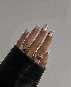 Mani Pedi, Pedicure, Hair And Nails, My Nails, Nail Ring, Minimalist Nails, Dream Nails, Nail Inspo, Swag Nails