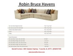 Robin Bruce Havens Slipcover Sectional with Down Blend Cushions. You Choose the Pieces to Fit your Room. You Choose the Fabric.