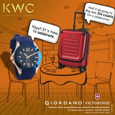 Let the happiness take over you. The KWC sale is here.  Up to 50% discount on Giordano Up to 25% discount on Victorinox  #KWC #Giordano #Victorinox Contact us on 9819537357