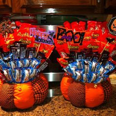 Halloween candy baskets for the BIG kids.