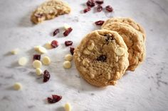 Eggless White Chocolate Chip Cranberry Cookies