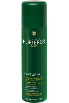 Dry shampoo offers all the benefits of washing your hair, with an extra 30 minutes of sleep to boot. Rene Furterer Naturia Dry Shampoo, $26; dermstore.com   - MarieClaire.com