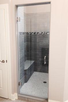 Frameless Shower Enclosure: Door - Furnished & Installed by Rex Glass & Mirror Co. Frameless Shower Enclosures, Frameless Shower Doors, Glass Company, Mirror, Bathroom, Luxury, Modern, Washroom, Trendy Tree