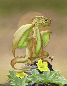 Honey Dew Digital Art - Honey Dew Dragon by Stanley Morrison Dragon 2, Fantasy Dragon, Baby Dragon, Fantasy Art, Magical Creatures, Fantasy Creatures, Manga Anime, Dragon Series, Dragon Pictures