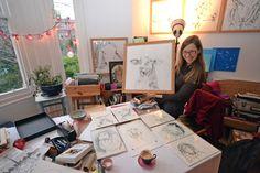 Birgit Deubner Artist: Drawing Samples