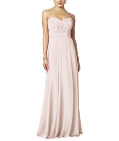 DescriptionAfter Six Style 6639 Full length bridesmaid dressStrapless necklineDraped bodiceFull Aline skirtNatural waistlineLux chiffon