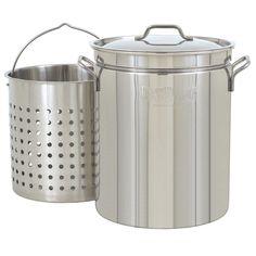 Bayou Classic 44 Quart Stainless Steel Stock Pot Kit