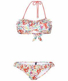 Damen Bikini Xandy Ruffle Bandeau Set #tommyhilfiger #flowers #bikini