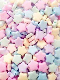Pastel Star Beads