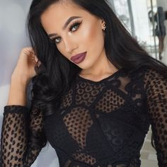 """LAURA BADURA on Instagram: """"Lace ❤️❤️ #MOTD Lips @anastasiabeverlyhills Trust Issues With Veronica in the middle, Brows @anastasiabeverlyhills dipbrow pomade in Medium Brown, Lashes @lillylashes in Alina, Highlight @anastasiabeverlyhills Glow Kit in That Glow Foundation @toofaced born to be Contour kit #anastasiabeverlyhills Top @hm"""""""