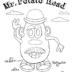 mr potato head coloring pages to and print for adult.