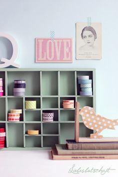 Masking Tape shelf