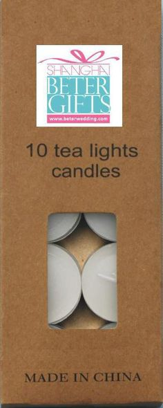 6g 1.5HR smokeless tealight candle carton packaging doomsday essential equipment T61@Shanghai Beter Gifts Co Ltd