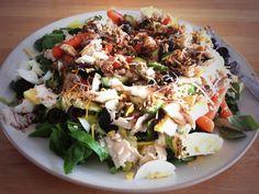 Salad with FODMAP Free Garlic Balsamic Dressing