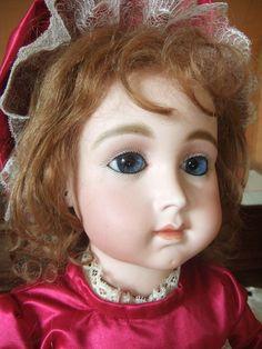 Very rare antique french SCHMITT Triste Bebe. from belmiranda on Ruby Lane