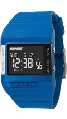 #blue Diesel digital watch (available in other colours as well). $85