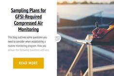 Sampling Plans for GFSI-Required Compressed Air Monitoring
