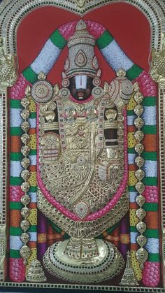 Balaji.3/4 feet.for sale. Shri Yantra, Lord Balaji, Wonder Art, Ornament Drawing, Tanjore Painting, India Art, God Pictures, Gold Work, Traditional Paintings