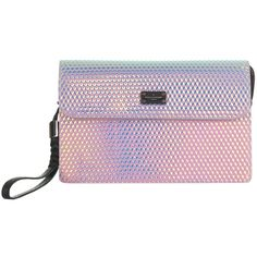 Paul's Boutique Veronica Hologram Clutch Bag, Multi ($82) ❤ liked on Polyvore featuring bags, handbags, clutches, evening handbags, pink purse, evening hand bags, hologram purse and paul's boutique