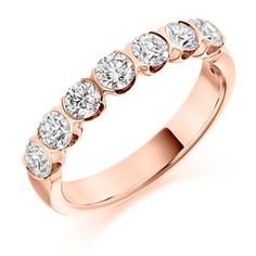 Diamond Weight: Diamond Cut: Round Brilliant Width: Diamond Coverage: Ref No: Eternity Rings, 18k Rose Gold, Diamond Cuts, Gold Rings, Jewels, Wedding, Valentines Day Weddings, Jewerly, Weddings