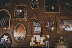 New obsession for the home & #weddings: rustic framed mirrors w/ sweet messages.
