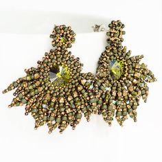 Zafiria / náušnice / earrings / beading / beaded jewelry