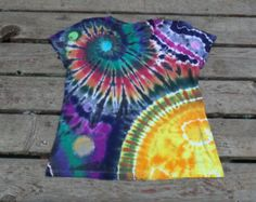 Ladies Cut Surya Spiral - Corner Sun Rising - Tie Dyed Galaxy Shirt by Pieceful Worlds Custom Made for You