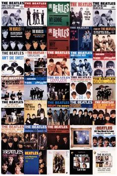Beatles Picture Sleeve History 1962-1970 Music Poster 12x18