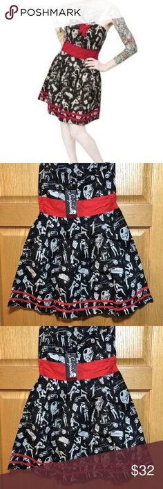NWT Sourpuss Dress Size Medium RePosh NWT Sourpuss Dress Size Medium RePosh I love this dress but it didn't fit Looking for a loving home NEw with Tags from Smokefree home and my home is a smoke free home.   Happy Poshing! Sourpuss Dresses Mini