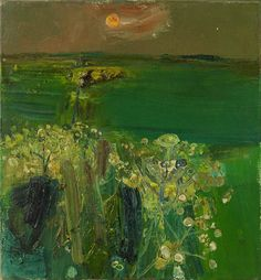 Joan Eardley (British, 1921-1963), Green Fields at Sunset. Oil on canvas, 15 x 14 in.