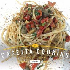 Gli spaghetti saporiti sono una ricetta che affonda le sua radici nell'area eoliana della Sicilia, ma che si sposta decisamente verso la parte occidentale dell'isola, dove incontra il gusto inconfondibile della bottarga di tonno rosso.