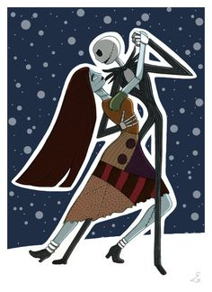 Jack and Sally from Nightmare Before Christmas My Ultimate fav couple Jack and Sally belong to Disney and Tim Burton