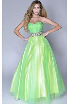 Fancy Ball Gown Sleeveless Sweetheart Empire Prom Dresses