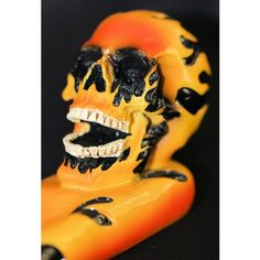 Flaming Coloured Gothic Skull Head Incense Holder