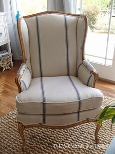 D.D.'s Cottage and Design: My New Grain-sack Chair