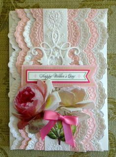 "Handmade Anna Griffin Vintage ""Happy Mother's Day"" Greeting Card 