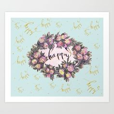 "Print ""Happy"" has been selected to be included in the Society6 Shop."