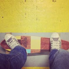 My Long Island Longboards Cutback Cruiser and Chuck Taylor double upper high. #skate #skating #longboard #converse