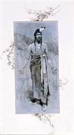 Artwork by Henry Francis Farny, Appeal to the Great Spirit, Made of Ink and Gouache on Paper kp